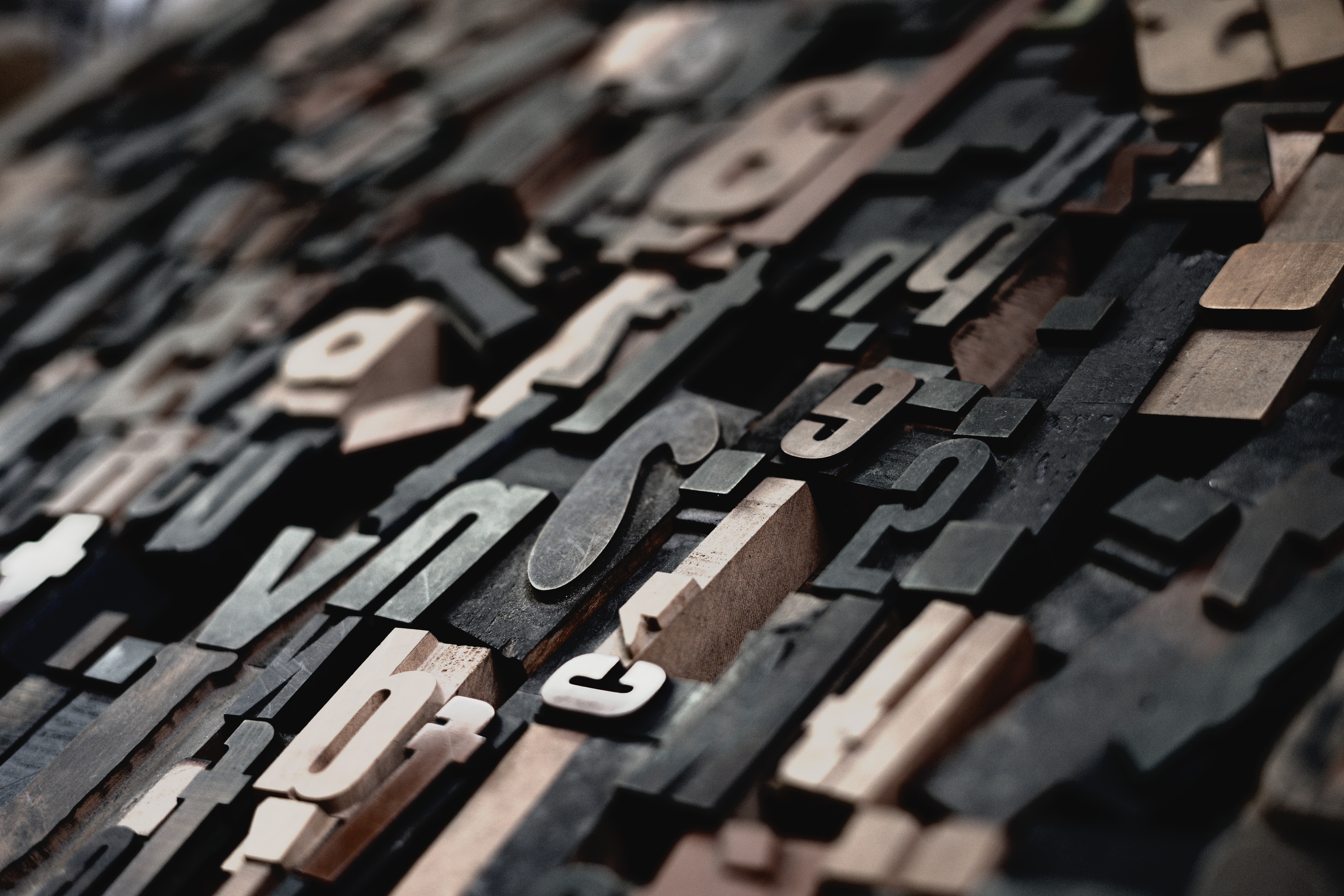 A Set of Wooden Types